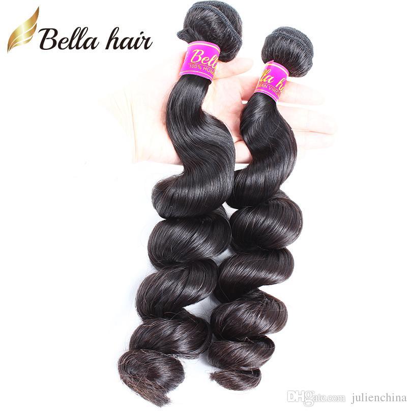 9A الأكثر مبيعا الشعر التمديد الإنسان الهندي 10-24 بوصة 4pcs / lot اللون الطبيعي الأسود متموج فضفاض موجة الشعر شحن مجاني