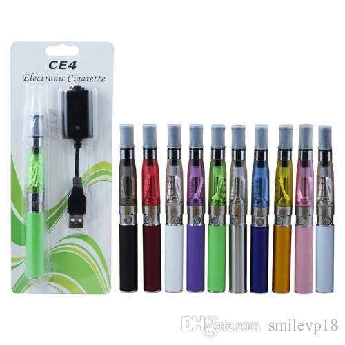 Am besten EGO CE4 Blister Pack Kit 1,6 ml CE4 Zerstäuber elektronische Zigarette 650 mah 900 mah 1100 mah Reale Kapazität