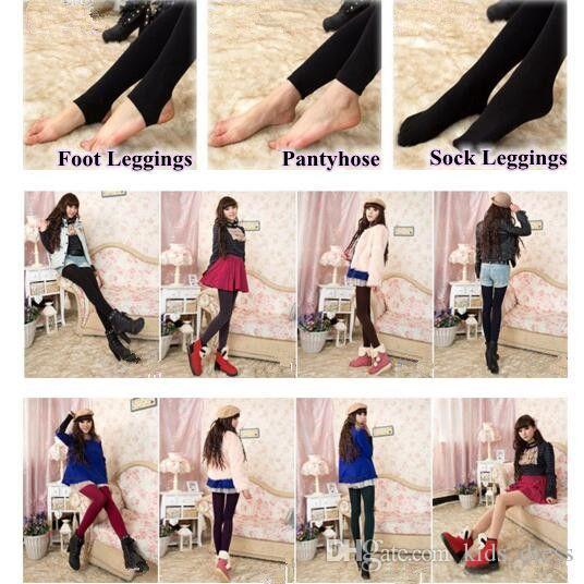 3 Styles Fleece Leggings Warm Winter Faux Velvet Lined Legging Thick Slim Leggings Tights Super Elastic Pantyhose CCA7671 500pcs