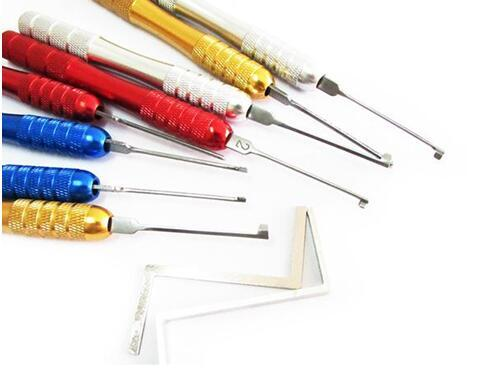 Nova chegada HUK serralheiro ferramentas lock pick 8 + 2 pcs covinha kaba lock picaretas para porta de segurança com melhor qualidade