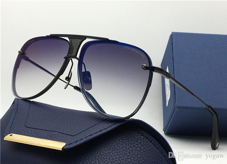 MEN матовый черный Pilot солнцезащитные очки золото / серый затененных Солнцезащитные очки 20-й годовщины Мужские солнцезащитные очки вождения очки Новый с чехлом