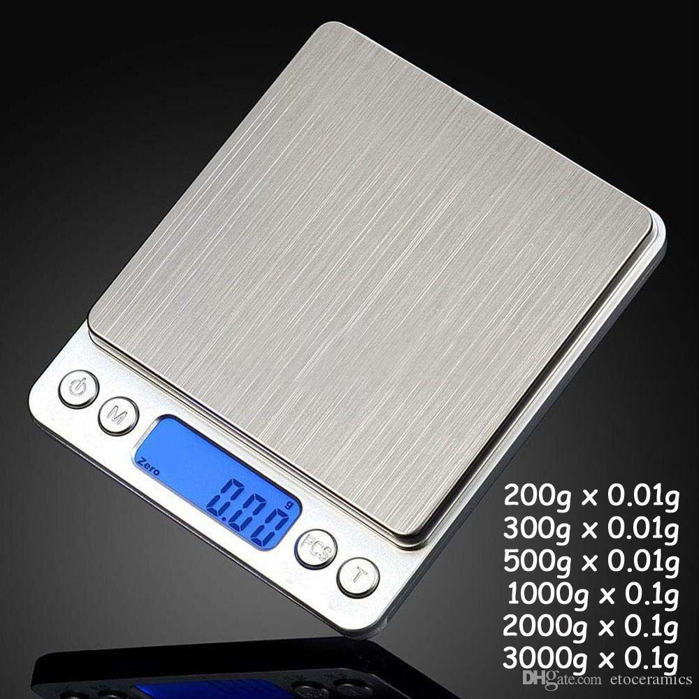 휴대용 디지털 보석 정밀 포켓 저울 저울 미니 LCD 전자 저울 무게 비늘 500g 0.01g 1000g 200g 3000g