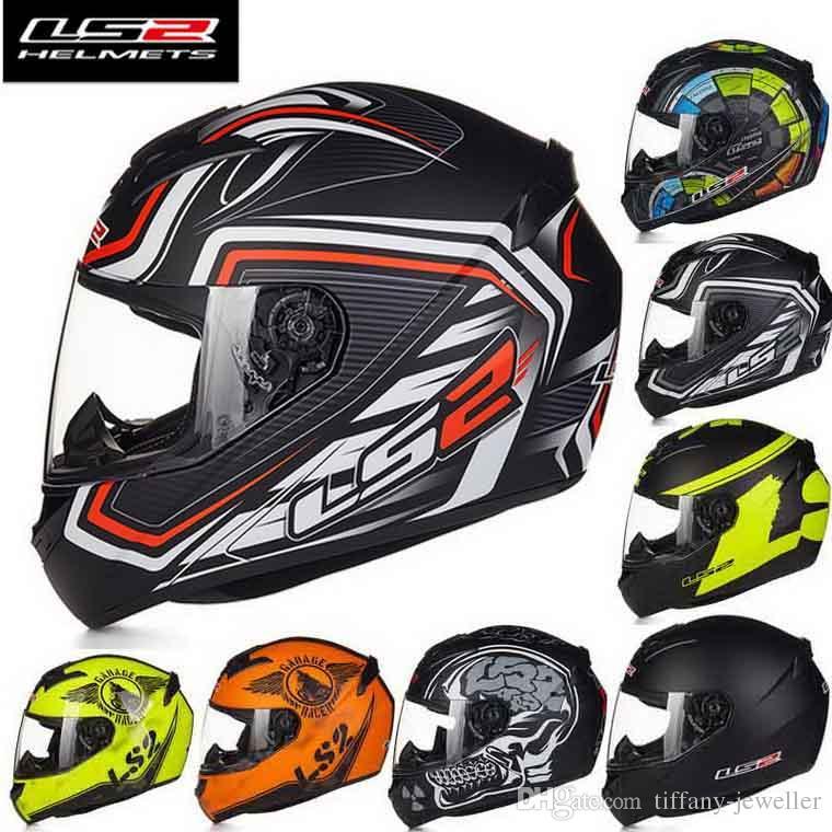 2016 Yeni LS2 FF352 Off Road Tam Yüz Motosiklet Kask ABS Cross-Country Motosiklet Kaskları 18 Renk Boyutu L XL XXL