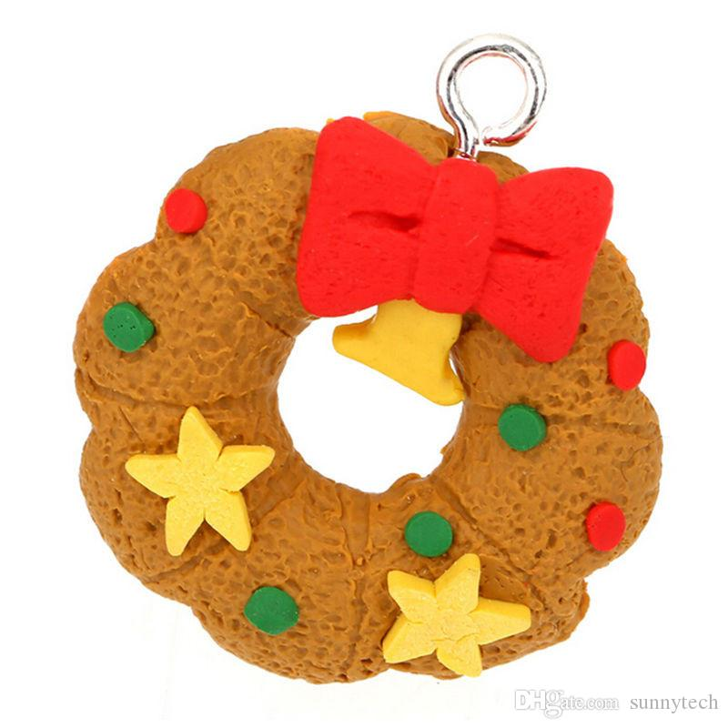 6pcs/set Free shipping Christmas Tree Hanging Accessories Polymer Clay Pendants Christmas Ornament Free Shipping WA1021
