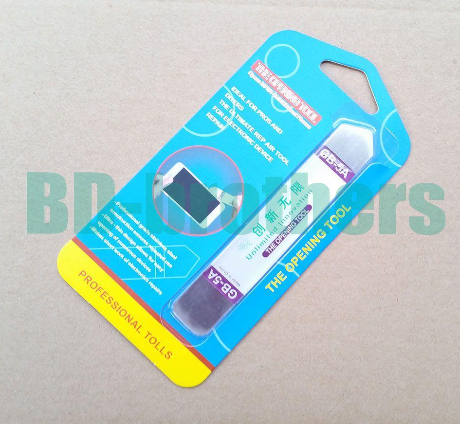 GB-5A Edelstahl Soft-Thin-Hebel-Öffnungswerkzeug Crowbar für Touch-Screen-Handy-Gehäuse-Reparatur mit Kleinpaket 100pcs