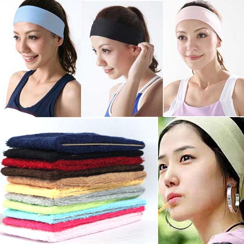 Atacado 500 pçs / lote feminino elástico esportes yoga faixa de cabelo dança ciclismo correndo headband Gmy headwear
