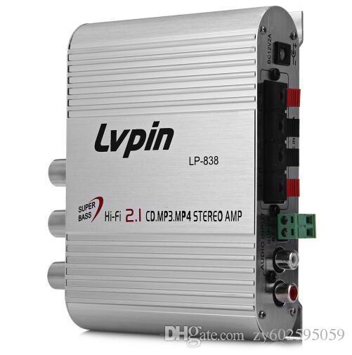NEUE LVPIN LP-838 Mini Hallo-Fi CD 2.1 MP3 Radio Auto Auto Motorrad Home Audio Stereo Bass Lautsprecher Verstärker