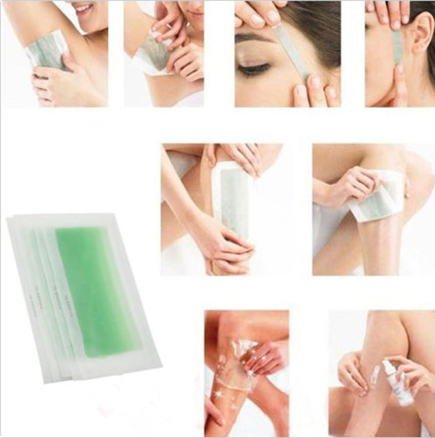 Double Side Hair Removal Cold Wax Strips Paper For Leg Body Facial