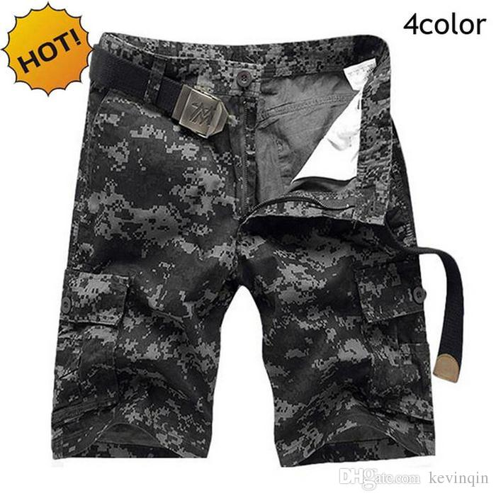 HOT 2016 Outdoor Mens Cotton Straight Camouflage Cargo Short Trousers Men Military Jungle Sport Tactical Shorts Plus Size 28-38