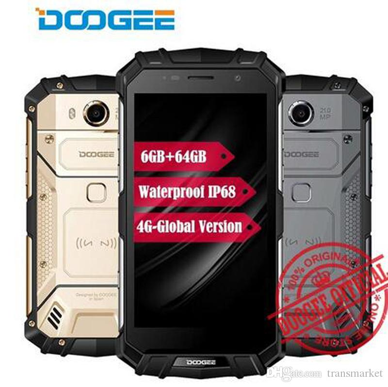 """DOOGEE S60 Wireless Charge Mobile Phone 5.2"""" FHD Android 7.0 Helio P25 Octa Core 6GB 64GB 5580mAh 12V2A Quick Charge 21MP Camera"""