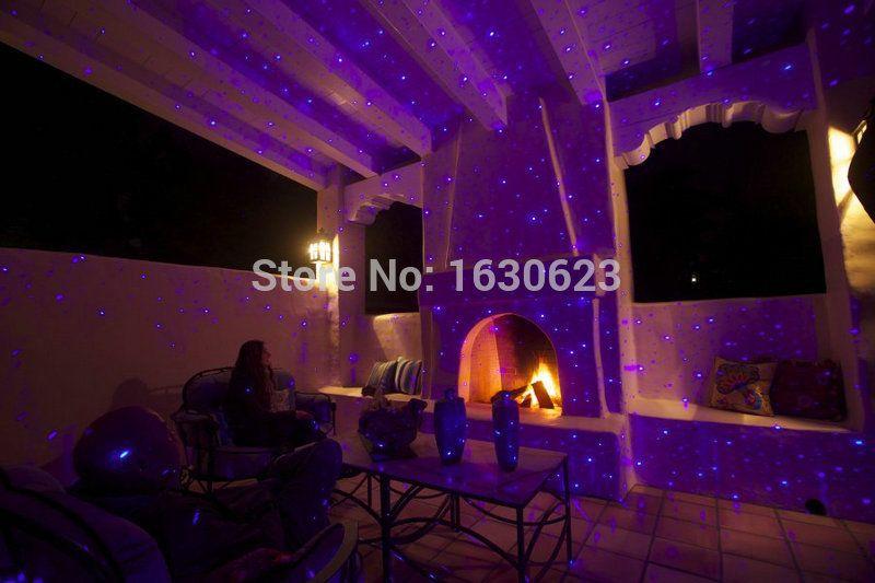 blue indoor laser decorative light