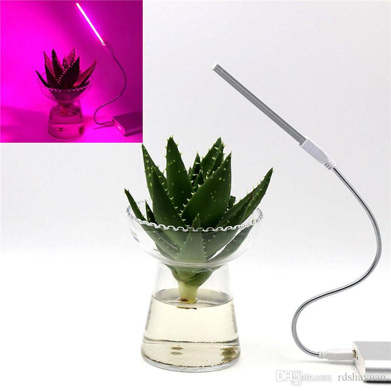 3W/14LED Grow Light USB Red & Blue Hydroponic Plant Growing Light Bar for Desktop Plant Flower Growing DC5V