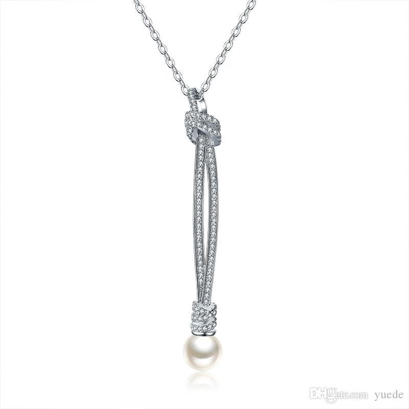 SALE Best Quality genuine 925 silver hot Wedding jewelry necklace Fine jewelry Crystals from Swarovski Christmas gift