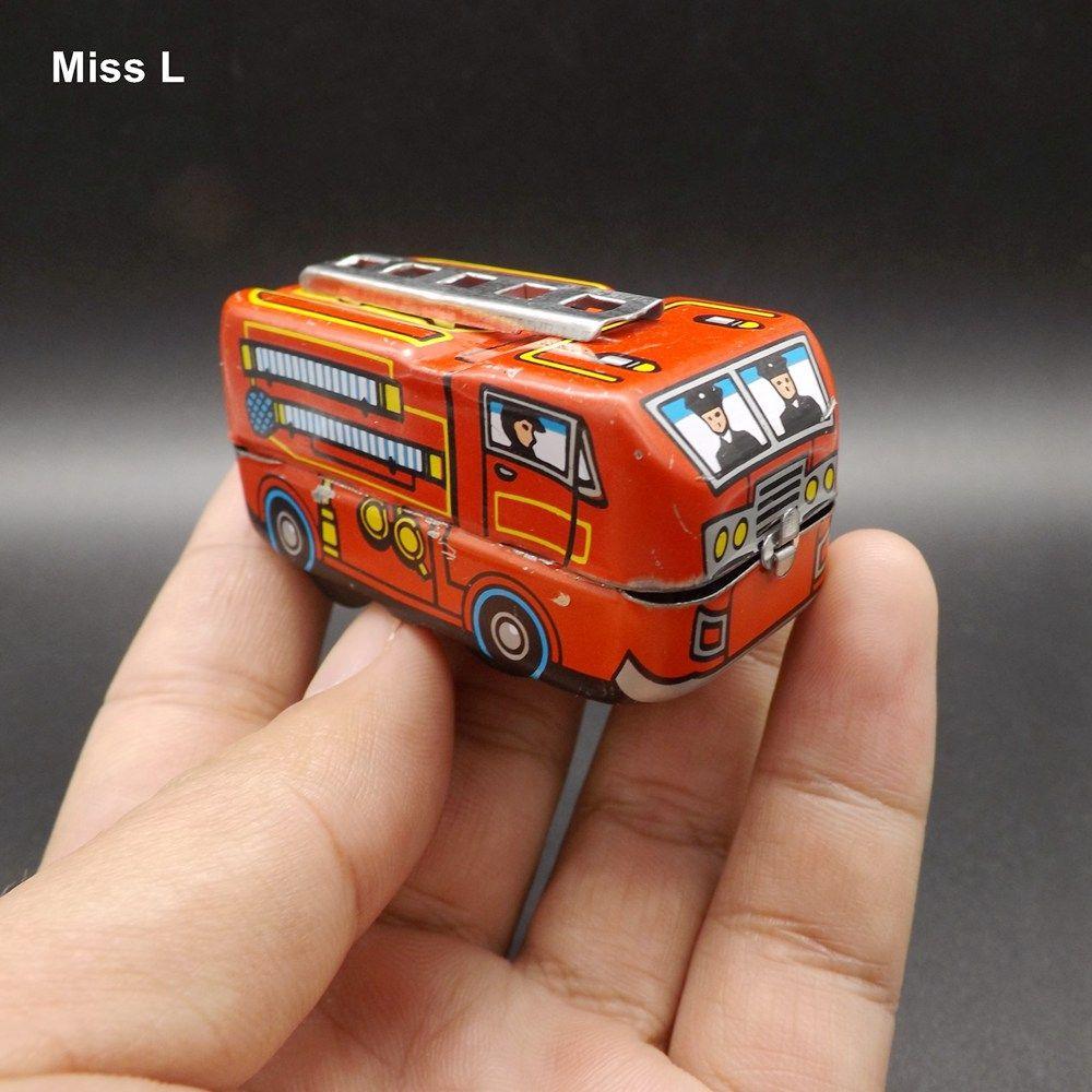 Modelo de Caminhão De Combate A Incêndio do vintage Tin Wind Up Brinquedos Para Presente de Aniversário das Crianças Relógio Brinquedos Jogo