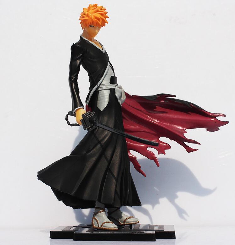 High quality 20cm anime Bleach Kurosaki Ichigo PVC Action figures toy Great Gift for Kids Free Shipping