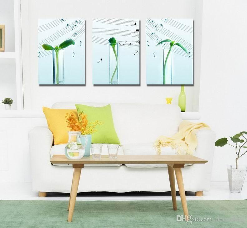 Contemporânea Sprout E Música Cultura Giclee Print On Canvas Wall Art Home Decor Set30423