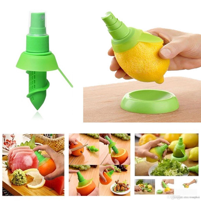 Kreative Zitronensaft Juicer Spray Mist Orange Obst Gadge Sprayer Küche H2010198