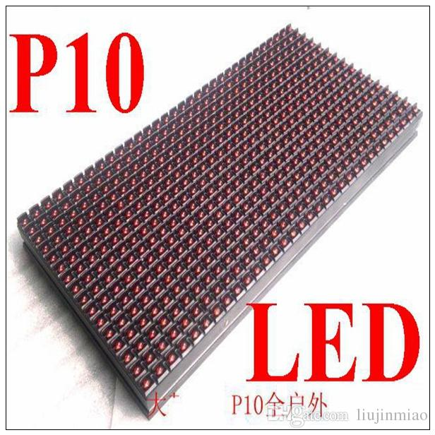 High way good quality red green P10 LED module transport display screen 32x32 p25 outdoor dip led display module red 1R