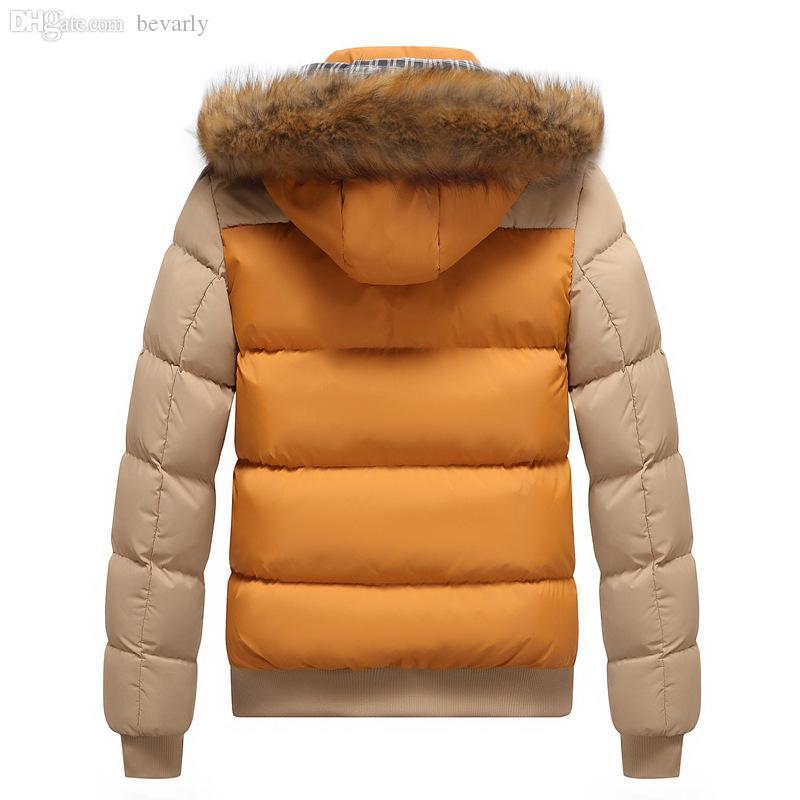 Veste d'hiver en coton rembourré à capuchon M-4XL pour hommes d'hiver de l'automne-2016 hiver hommes épais