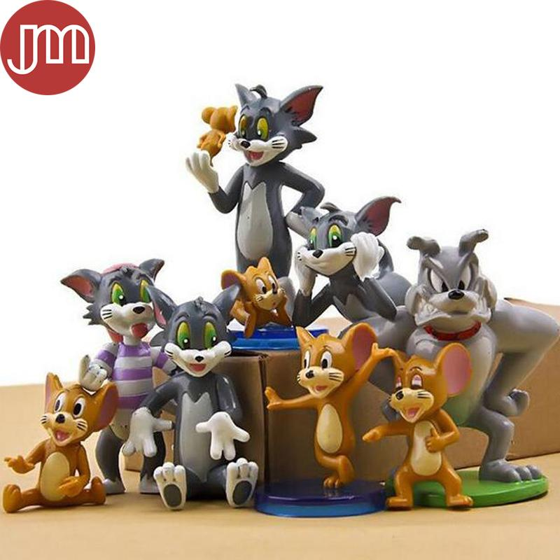 Tom And Jerry Figure Cartoon Cat /& Mouse Toys Set of 9pcs Cute Anime Child Gift