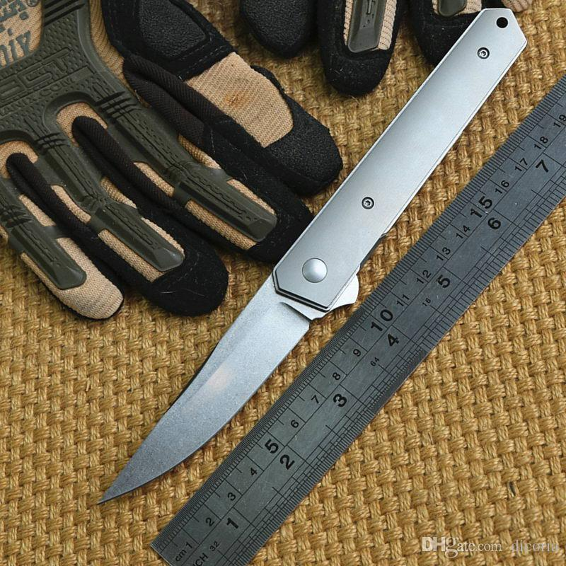 BK Kwaiken ball bearing Flipper tactical folding knife M390 blade TC4 Titanium handle outdoor gear camping hunting survival knives EDC tools
