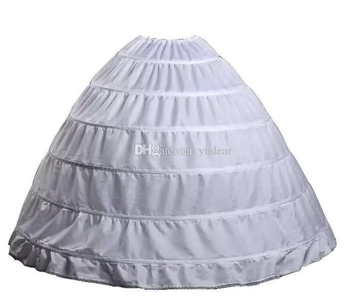 2019 جديد وصول الكرة ثوب 6 خواتم التنورة الداخلية جودة عالية تحتية لل زفاف في الأسهم زائد الحجم 6 الأطواق quinceanera الزفاف الساخن قماش قطني