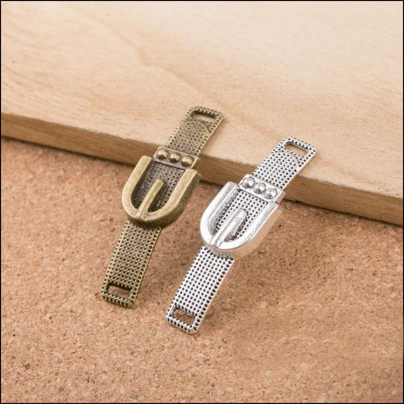 Bracelets de bijoux faisant des charmes vintage Charms de connecteur de ceinture en alliage vintage AAC1169