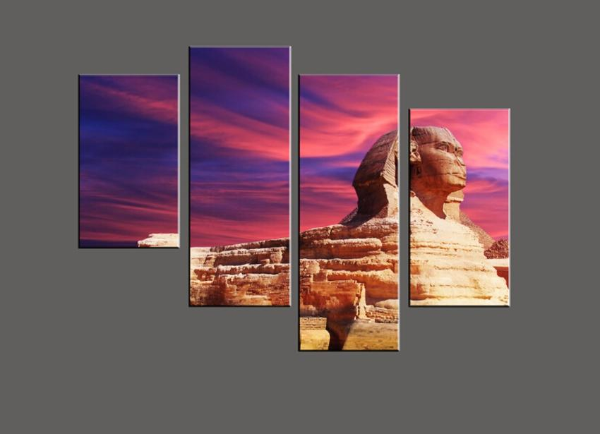 Unframed 4 pieces Free Shipping on Canvas Prints Home decoration Sphinx mountain flower grass Brooklyn Bridge candle orchid Bamboo butterfly