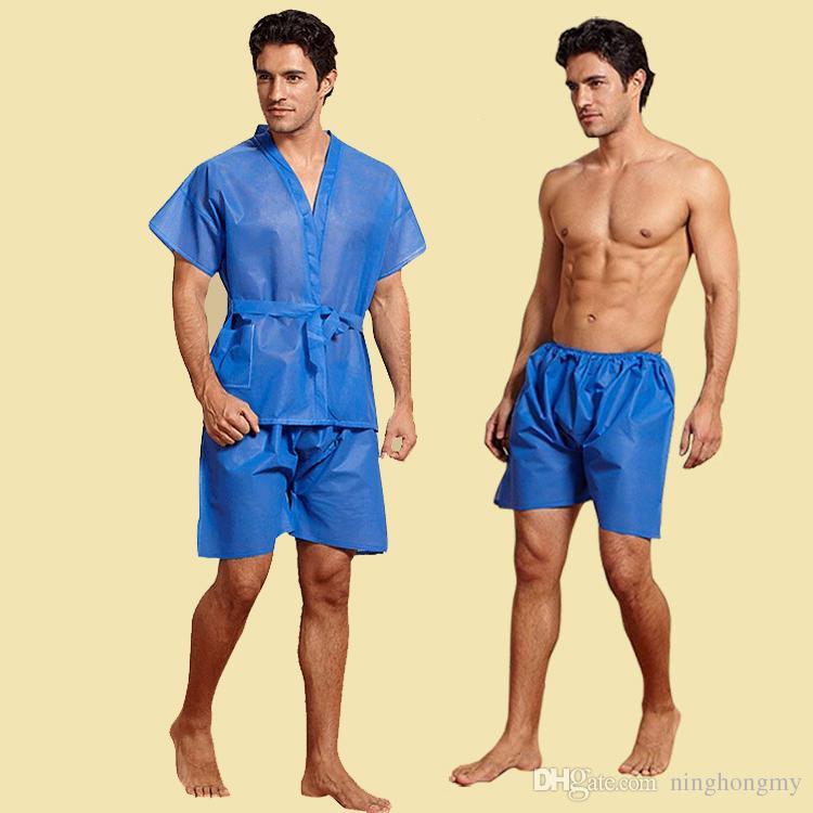 Wholesale Mens Underwear Boxers Non-Woven Disposable Sauna Shorts Underwear Summer Nightgown Men Massage Spa Travel Clothing Free DHL