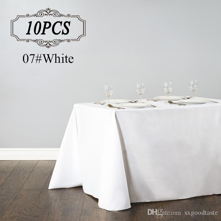Rectangular Table Cloth Polyester Seamless Wedding Party Table Cover Cloths Banquet Round Tablecloths Elegant Table Linen For Hotel Table Cloth Clips Christmas Table Cloths From Sxgoodtaste 137 8 Dhgate Com