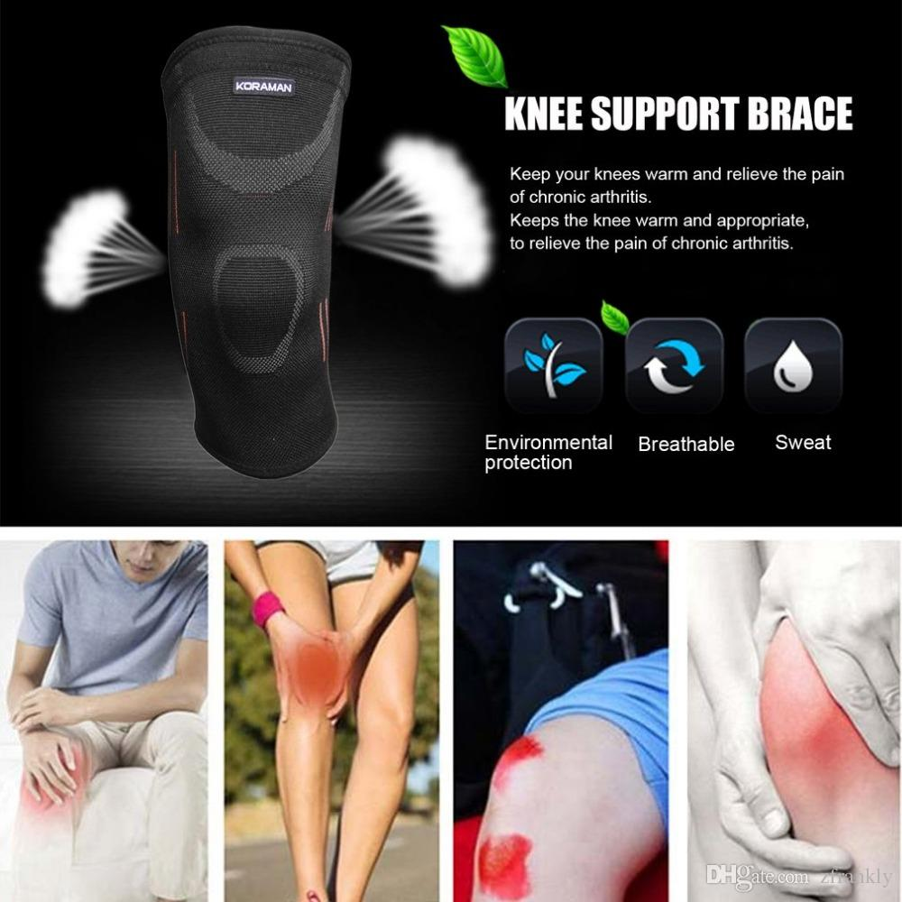 Wholesale-10pcs/lot Sports Gym Elastic Knee Pad Wrap Support Brace Arthritis Injury Sleeve Cycling workout Exercise Outdoor knee protector
