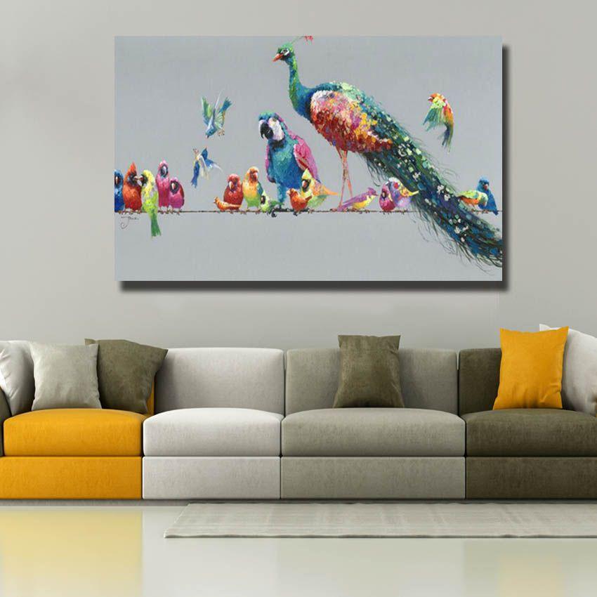2020 Hand Painted Beautiful Birds Paintings Nice Decorative