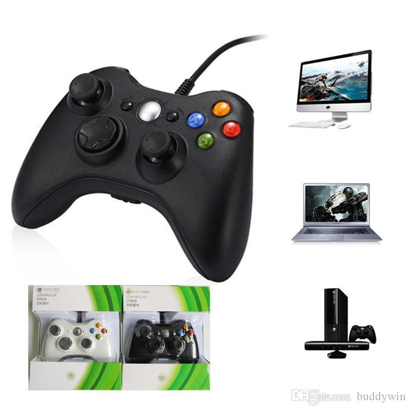 USB Wired Gamepad Joystick Xbox 360 Game Controller For Microsoft Xbox 360 PC Windows 7XP With Retail Box