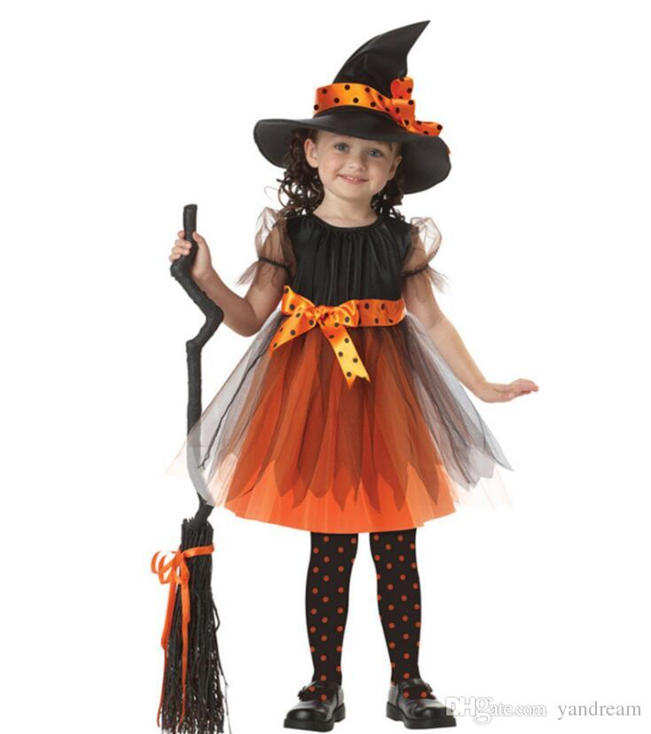 Cartoon Ghost Witch Hat Halloween Party T Shirt Costume Childrens Kids Size