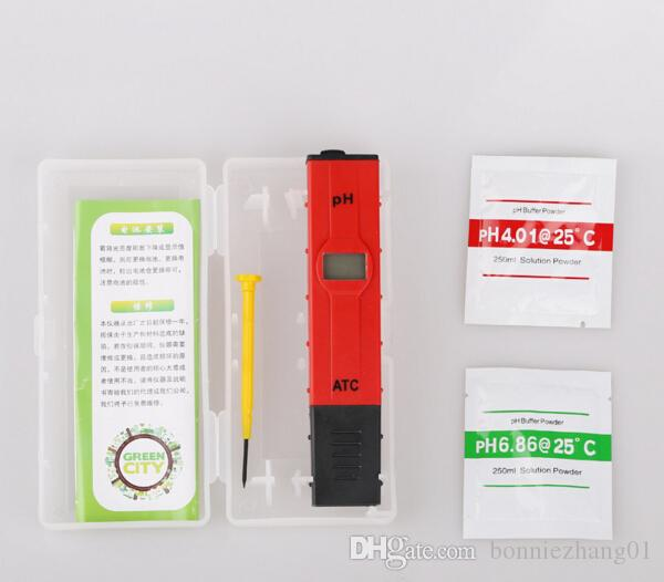 20pcs with box Home PH Tester ATC Meter PH-009 Value Test LCD Tester 0-14 Pocket Pen Aquarium Water Tester