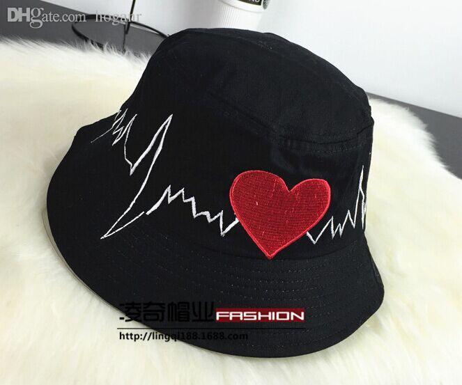 Atacado-Black White Red Marinha Japonês Chinês Carta Triste Menino Bucket Hat Bob Boonie Caça Floral Reversível Pesca Chapéu Hip Hop Panamá