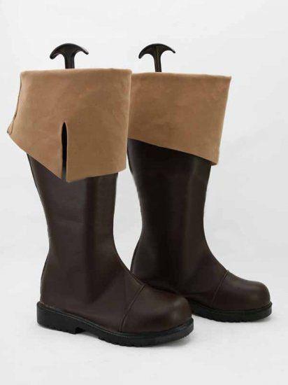 Wholesale-Freeshipping Assassins C 레드 4 : Black Flag Connor Kenway Cosplay Boots shoes # 5781 할로윈을위한 주문 제작