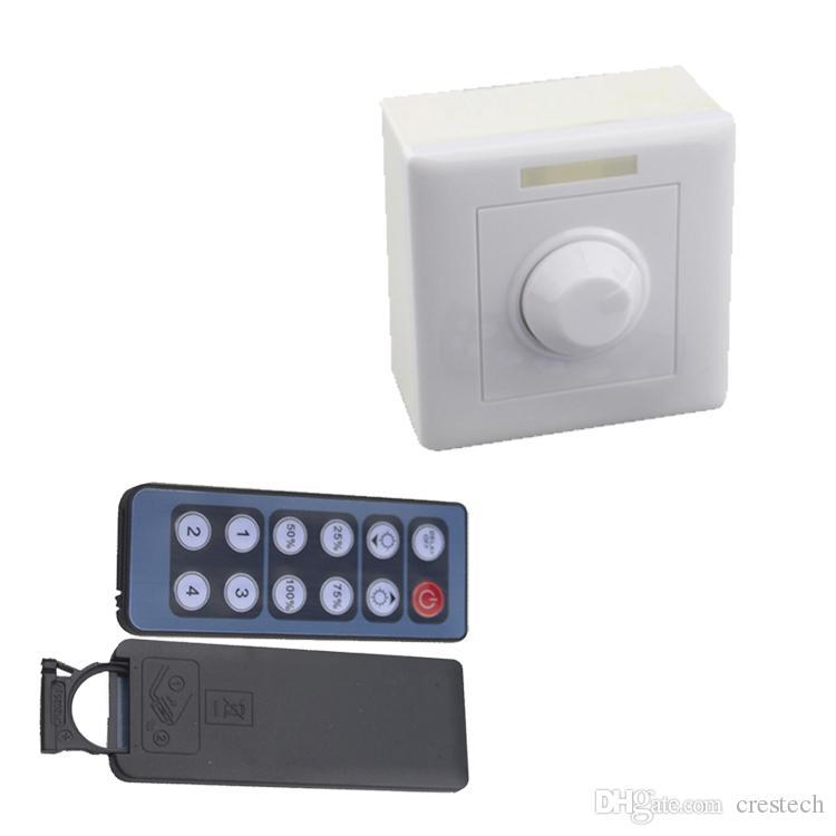 Dimmer DC 12V 24V 8A IR Remote LED Light Dimmer 12 Key Adjustable Brightness Control Screw