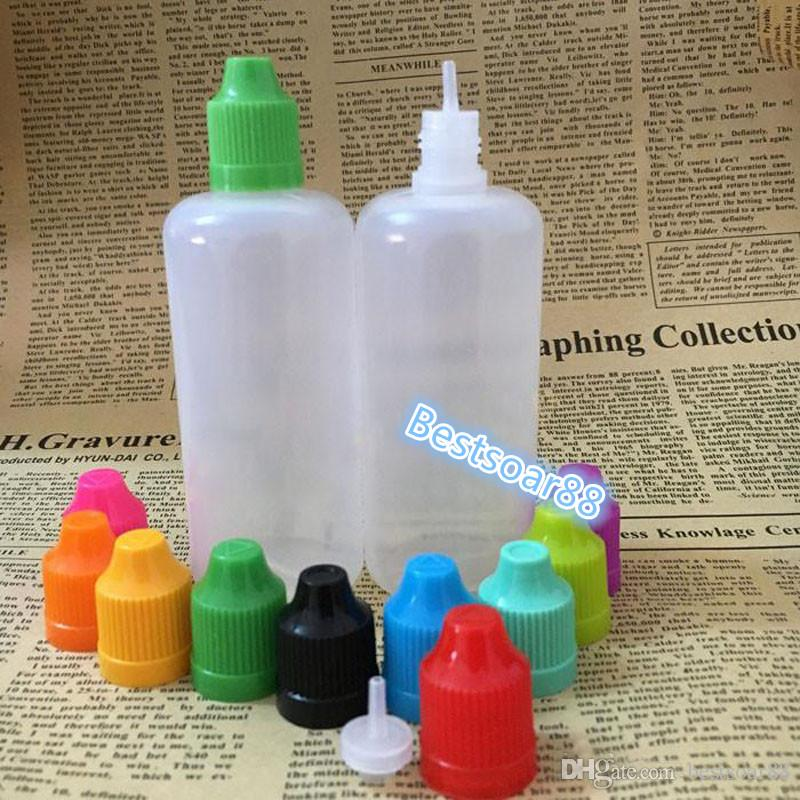 China Supplier Empty E-liquid Bottles 100ml Plastic Dropper Bottle With Childproof Safety Cap Long Thin Tip Eye Drop E Cigarette Bottles