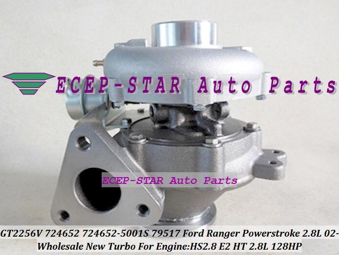 GT2256V 724652 724652-5001S 724652-0001 724652-0007 79517 Turbo Turbocompressor Para FORD Ranger Navistar Curso de poder 2002-HS2.8 HT 2.8L 128HP
