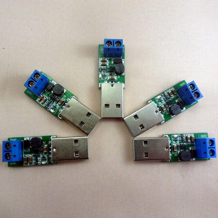 5pcs 5W USB 5V to 12V Inverter Step Up Boost DC DC Converter UPS Module for LED Moter Wireless controller Solar Charger