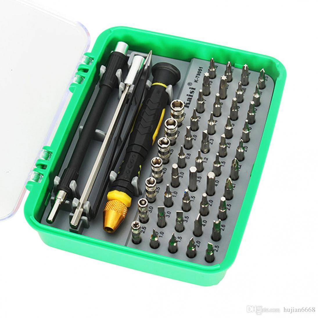 القيسي أدوات افتتاح مجموعة إصلاح 51 في 1 طقم تنوعا المفك للهواتف الأدوات المنزلية