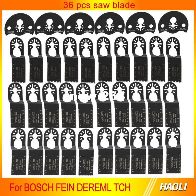 36 Stück schnell wechseln oszillierende Multi-Werkzeug Sägeblatt für Elektrowerkzeuge Zubehör wie Fein Dremel, guter Preis und schnell devliery