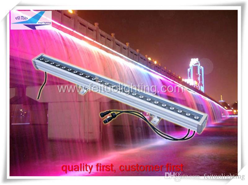 (4 조각 / 많은) 비행 가방 패키지 도매 IP65 24x3w rgb 3in1 벽 세탁기, 야외 주도 빛