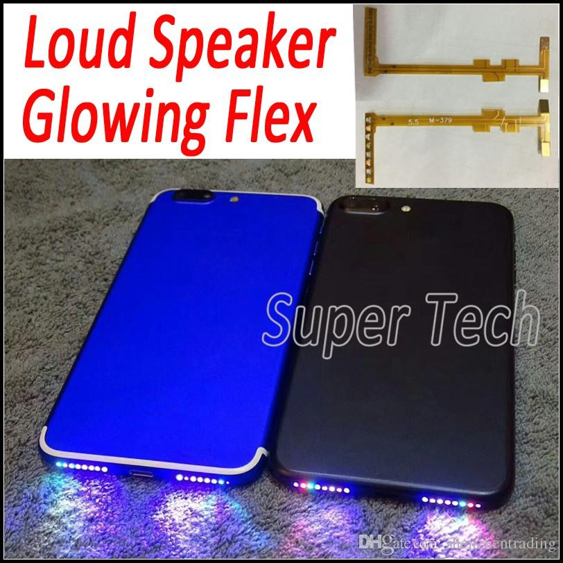 Per iPhone 7 Altoparlante Altoparlante Flex Fai il tuo telefono Foro dell'altoparlante Shinning DIY Glowing Flex per iPhone 7 7Plus 6 6S Plus