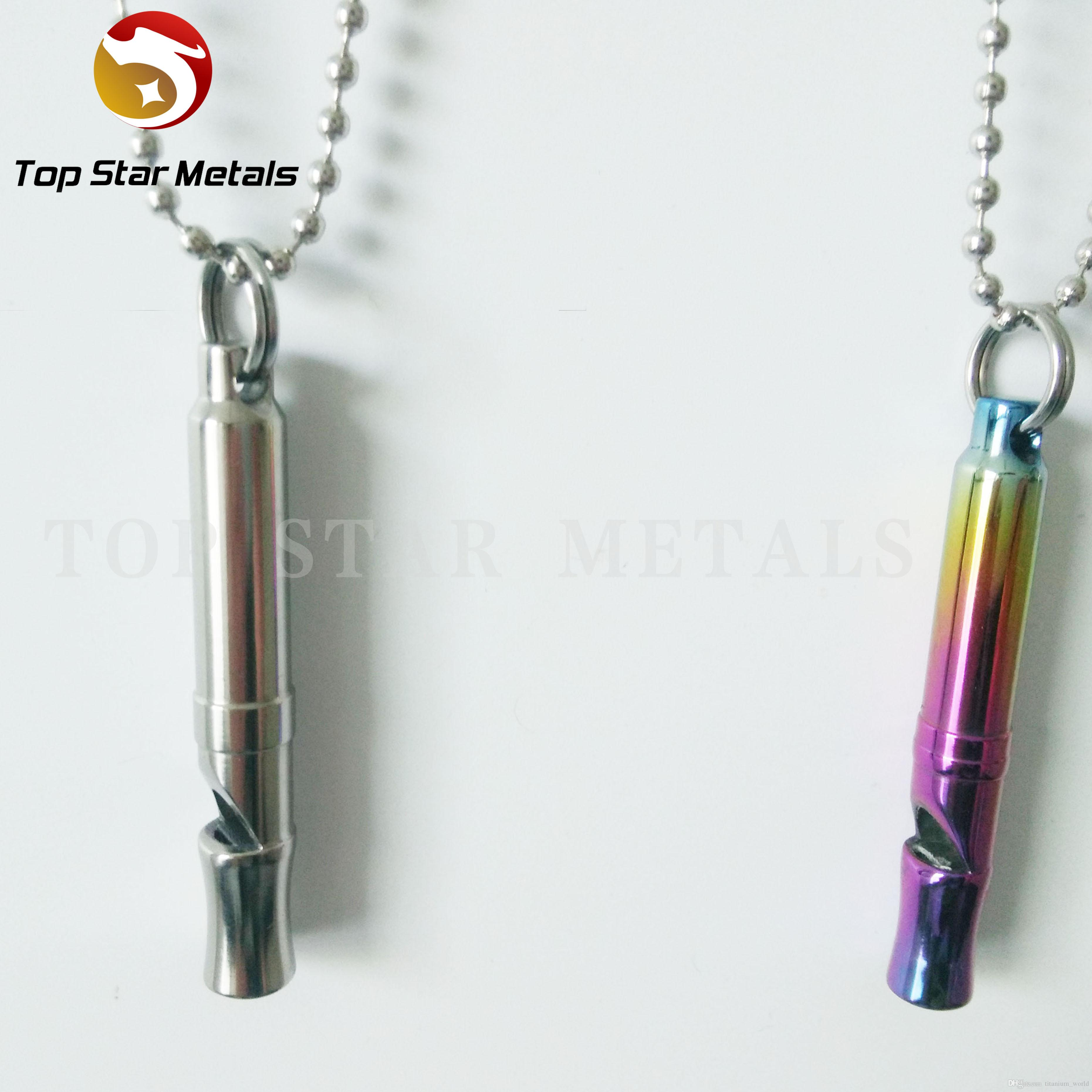 Лучший Titanium 120db Survival Whistle Брелок Ожерелье Подвеска Кемпинг Туризм Охота Аварийный EDC Travel Tool