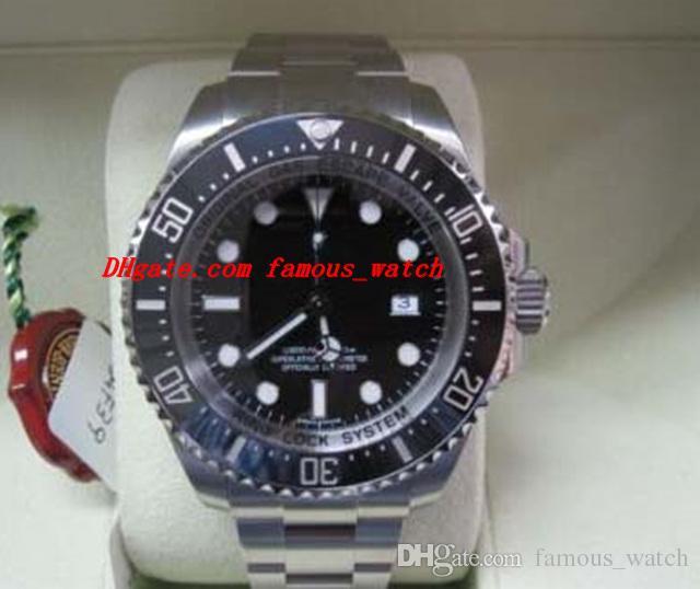 Luksusowe zegarki Brand New 116660 Mężczyzna Automatyczny Zegarek Czarny Dial Gumowy Zespół męski Zegarek na rękę