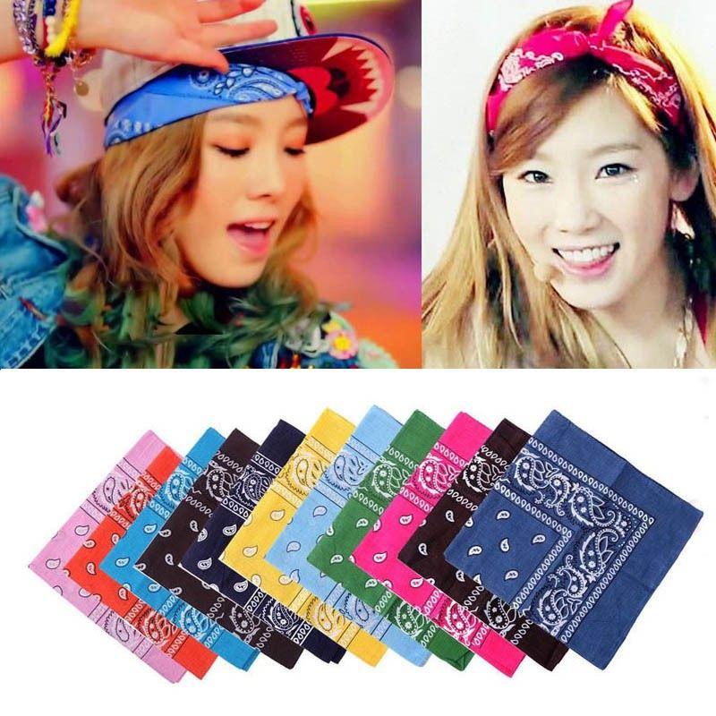 Paisley Bandana Double Side Head Wrap Wristband Headwear Neck Scarf Fashion