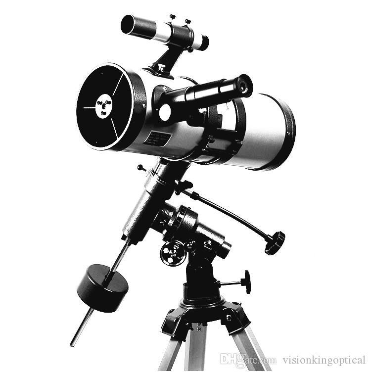 Visionking 1000 114mm Equatorial Mount Space Telescópio Astronômico de Alta Potência Estrela / Lua / Saturno / Jupiter Telescópio Astronômico