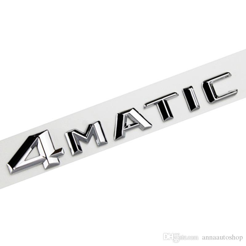 Fade Proof Car Decals for All AMG Models Silver Mirror Chrome Brand New ABS Car Stickers